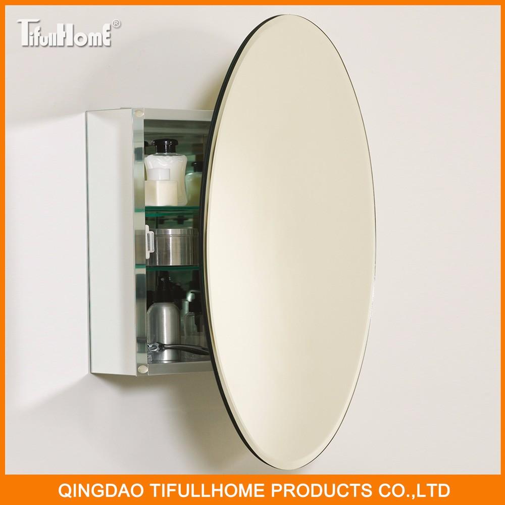 Forma oval Estilo Popular à prova d água do banheiro armário com espelho -> Armario De Banheiro A Prova DAgua