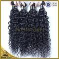 12-36 pulgadas natural rizado de onda del pelo indio, real grado 6a 100% extensiones de cabello indio