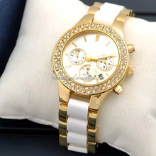 Wholesale japan movt crystal lady quartz alloy watch