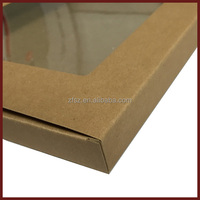 Transparent pvc display windows plain kraft paper packaging shirt box
