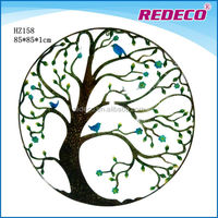 Decorative small metal wall art tree for sale