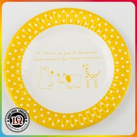 "Wholesale 7"" Custom Printed Partyware Round Paper food Plates"