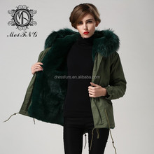 MEIFNG real fur parkas brand women or men fashion army parkas