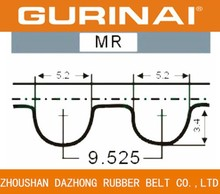 Automotive rubber timing belt for OHC power transmission