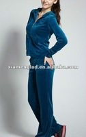 Ladies velvet track suit cheap tracking suit