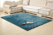 Hand tufted M7 yarn super soft and comfortable elegandt mixed blue color plain Shaggy Carpet