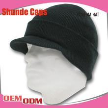 Wholesale Knit Beanie/Thin Men Long Beanie Hats with Brim/Cotton Beanie