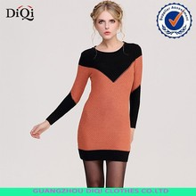 Wholesale dresses sexy midi dresses wool knit sweater dress