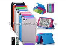 Credit Card Hard Shell Stand Combo Case Cover For iPhone 4 4G 4