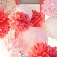 Flower shape round paper ball decoration