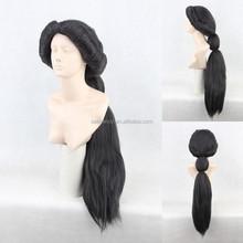 Aladdin Jasmine Princess Black Fluffy Style Heat Resistant Cosplay Wig QPWG-2221