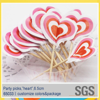Wholesale Party Wedding Food Grade Wood Decorate Toothpick