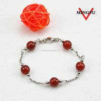 Mingfu red beaded female custom foot jewelry