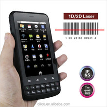 Android IP65 industrial 3G smart phone with laser barcode scanner,NFC reader,CE certification support wifi,bluetooth,GPS.