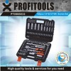 "108pcs 1/4""&1/2"" high quality car emergency tool kit"