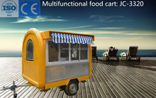 CE approved JC-3320 commercial used food cart for wholesale hot dog factory