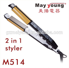 2015 as seen on tv best quality beauty ceramic plate MCH heater hair straightener