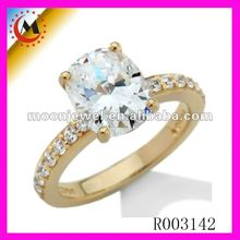 NEW FASHION 22K GOLD PLATED RING ENGAGEMENT DIAMOND RING 2012