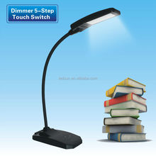 Plastic Lamp Body Material Office, Bedroom LED Table Lamp with base switch