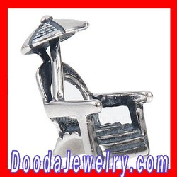 Antique 925 Sterling Silver Beach Chair Charm Beads European Style