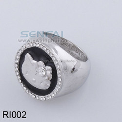 Wholesale Gold Plated silver Ring Cheap Custom Diamond Ring for Sale with More Design