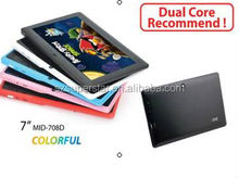 tablet pc with infotmic dual core tablet pc 7inch Q88 with hdmi