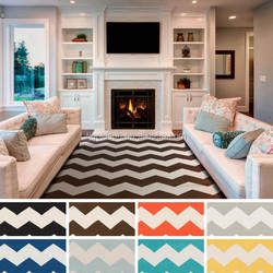 NO.1 china supplier of hot selling modern living room flatwave chevron carpet