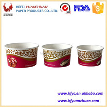 China factory low price paper ice cream tub suitable for freezing