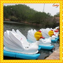 Attractive duck water pedal boat for small lake/Water park equipment adult water PE pedal boat