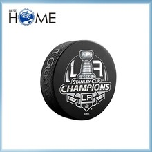 New Product Logo Printed Rubber Hockey Puck with Big Discount
