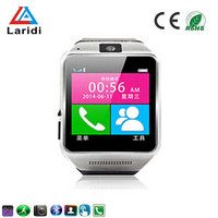 Factory price touch screen bluetooth android smart watch and phone GV08 with pedometer for health care