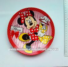 Melhor qualidade de minnie mouse cerâmica placa lateral, decorar o prato de cerâmica