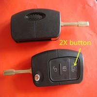 TD 3 button flip key case with roll up windows with 2X button for F-rd