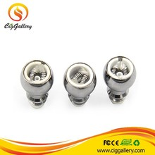Cig Gallery 510 dual coil cartomizer glass globe atomizer replacement coil head glass dome atomizer