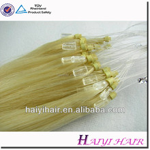 Factory Price 8-40 inch Straight Silicon Added Thick Micro Ring Loop Hair Extension