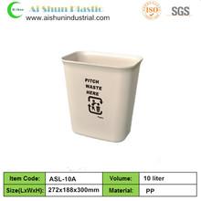 10 Liter plastic trash can recycling waste bin