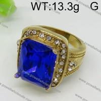 Out of sight stainless steel blue ruby and pave diamond ring
