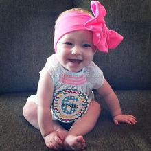 2014 latest Hot selling baby bow cotton headband