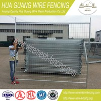 Hot dipped galvanized removable garden fence