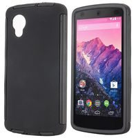Detachable 2 in 1 Full Protective Rubber Coated Hybrid Phone Case for LG Nexus 5