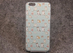 Printing cute cat soft silicone mobile phone case for iphone 6 customized case