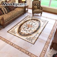 House plans decorative polished floor carpet tiles