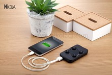 2015 new portable 4000mAh qi wireless power bank for iphone 6/samsung galaxy s6