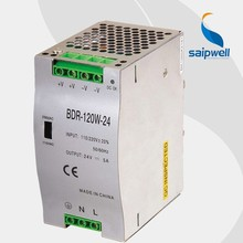 Saipwell BDR-120W-24V 5V / 12V / 24V miniature guide strip Din Rail switching power supply