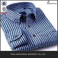 blue long fit plaid check flannel shirt
