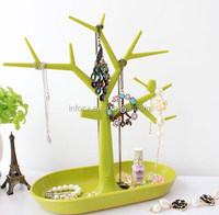 Tree design jewelry hook with storage / jewelry hanging hook / jewelry stand