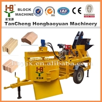 chinese construction equipment manufacturers M7MI interlocking clay+cement brick making machine
