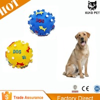 High Quality Squeaker Inside Rope Ball Pet Puppy Dog Toy