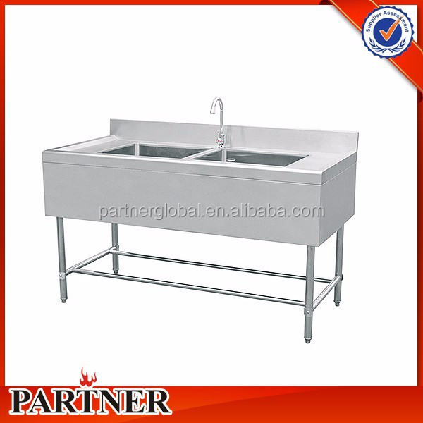 commercial double bowl kitchen stainless steel sink for