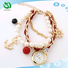Fashion Pearl Bracelet Watch Lady 2015 Trending Hot Products